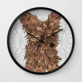 Cute Yorkie Wall Clock