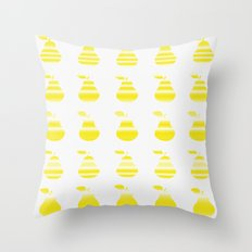 Yellow Pears Throw Pillow