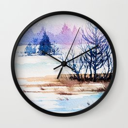 Winter Forest 3 Wall Clock