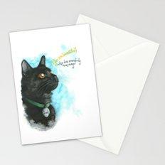 Black Cat-2 Stationery Cards
