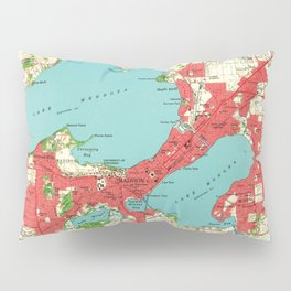 Vintage Map of Madison Wisconsin (1959) Pillow Sham