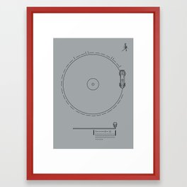 Voyager Golden Record Fig. 1 (Gray) Framed Art Print