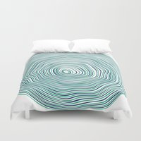 tree rings Duvet Covers featuring Tree Rings by Miami and Ema
