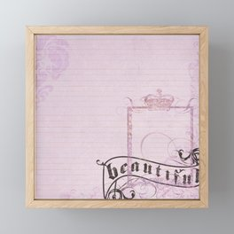 belle époque  paper Framed Mini Art Print