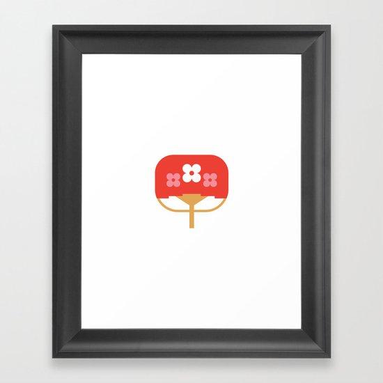 Japan Fan Framed Art Print