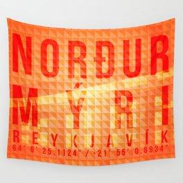 Nordurmyri Orange Wall Tapestry