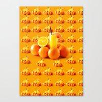orange pattern Canvas Prints featuring Orange Pattern by Azeez Olayinka Gloriousclick