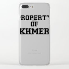 Property of KHMER Clear iPhone Case