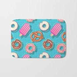Poolparty doughnuts, pretzel,lollies Bath Mat