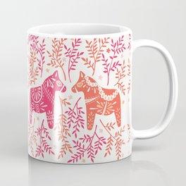 Swedish Dala Horses – Melon Palette Coffee Mug