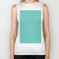 turquoise Biker Tanks featuring Turquoise  by EVNF