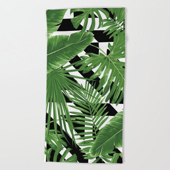 tropical geometric  Beach Towel