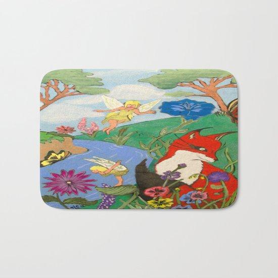 Fox And The Fairy Bath Mat