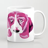 the hound Mugs featuring Hound Dog by andiroses