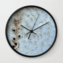 Karman Vortices above Alexander Selkirk Island Wall Clock