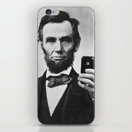 Abraham Lincoln iPhone Selfie iPhone Skin