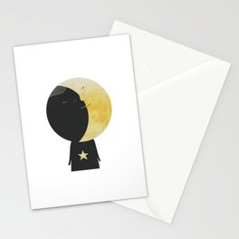The day I kissed the Moon Stationery Cards