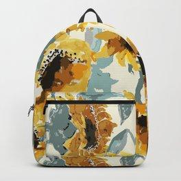 Sunflower Watercolor //Sunflower Field// Sunflower Yellow/Light Backpack