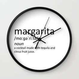 The cocktail series: 'margarita' Wall Clock