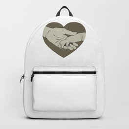 Father and Child Love New Dad Holding Baby's Hand Father's Day Backpack