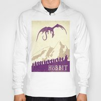 hobbit Hoodies featuring The Hobbit by WatercolorGirlArt