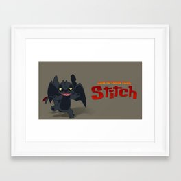 How to Train Your Stitch Framed Art Print