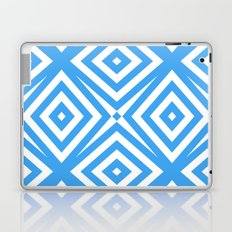 Blue and WHite Diamond Abstract Laptop & iPad Skin
