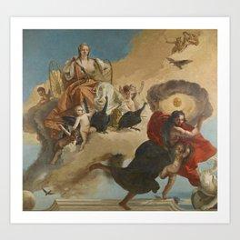 Giovanni Battista Tiepolo - Juno and Luna Art Print