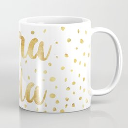Pura Vida Gold Champagne Bubble Design Coffee Mug