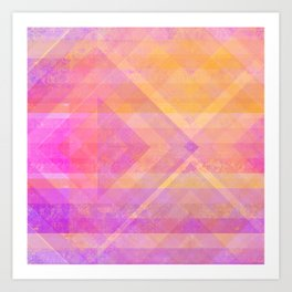 Sunset Diamonds Art Print