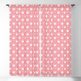 Princess pink with Tiaras. Blackout Curtain