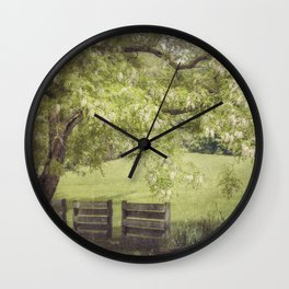 Hanging out in the Shade Wall Clock