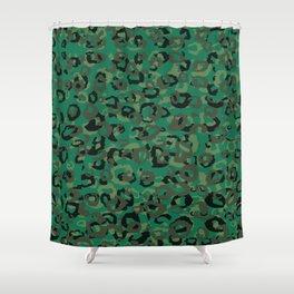 Emerald Leopard Shower Curtain