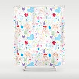 Tasting the Magic - White Shower Curtain