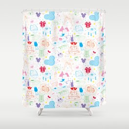 Tasting the Magic - White Shower Curtain