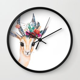 Boho Gazelle Wall Clock