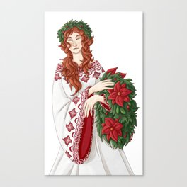 Christmas (White Background) Canvas Print