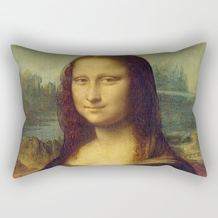 MONA LISA - LEONARDO DA VINCI Rectangular Pillow