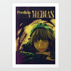 Perdida A Medias Movie Poster  Art Print