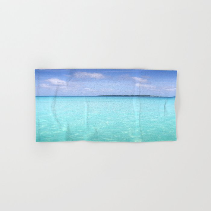 Aqua Water Island Dreams Hand & Bath Towel