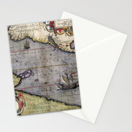 Pacific Sea- Ortelius - 1589 Stationery Cards