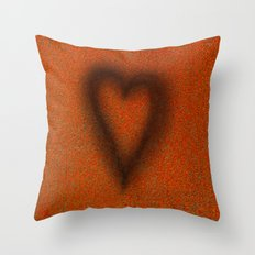 Blow torched love heart Throw Pillow