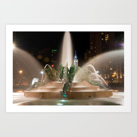 Philly Fountain Art Print