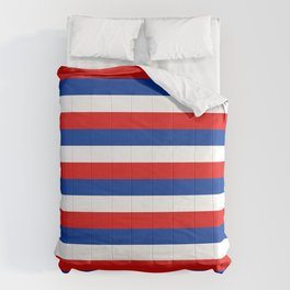blue white red stripes Comforters