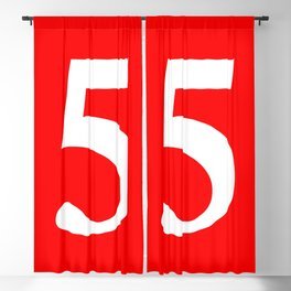 5 (WHITE & RED NUMBERS) Blackout Curtain