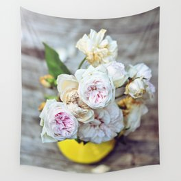 The Last Days of Spring - Old Roses I Wall Tapestry