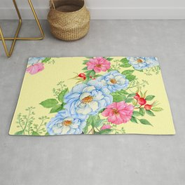Vintage Floral Pattern No. 4 Rug