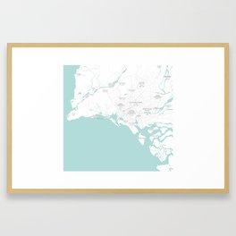 Minimalist Modern Map of Karachi, Pakistan 8 Framed Art Print