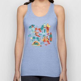 Hawaiian resort Unisex Tank Top