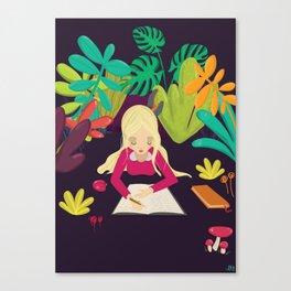 Writing Canvas Print
